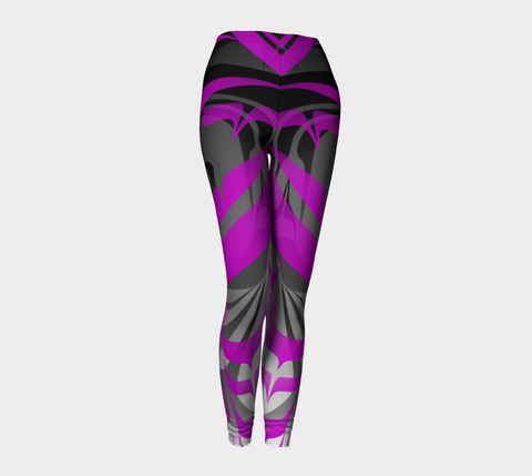 Eagle PurpleBlack Leggings - Northern Dreams Clothing by Chelleen