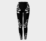 Raven Wing Leggings - Black - Northern Dreams Clothing by Chelleen