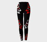 Raven Wing Leggings - Traditional Black - Northern Dreams Clothing by Chelleen