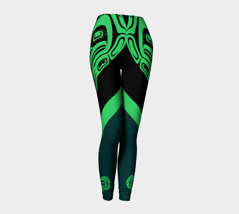 Frog Leggings Green