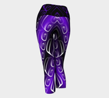 Ovoid Yoga Capris Purple - Northern Dreams Clothing by Chelleen