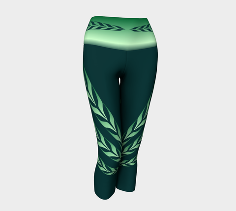 Form Line Yoga Capris Green - Northern Dreams Clothing by Chelleen