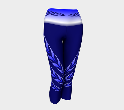 Form Line Yoga Capris Blue - Northern Dreams Clothing by Chelleen