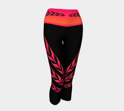 Form Line Yoga Capris Sunset