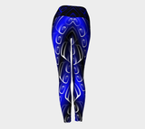 Ovoid Yoga Leggings Blue - Northern Dreams Clothing by Chelleen