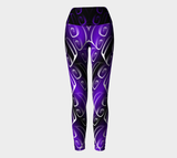 Ovoid Yoga Leggings Purple - Northern Dreams Clothing by Chelleen