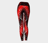 Ovoid Yoga Leggings Red - Northern Dreams Clothing by Chelleen