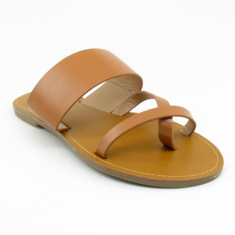 """Maya"" Toe Strap Sandal (Black, Rosegold, Brown)"