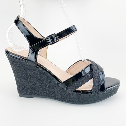 """Virginia"" Glitter Wedge"