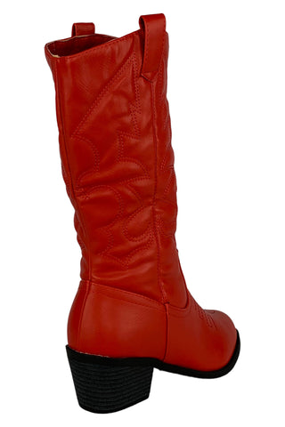 Truly Fabulous Western Boots (White,Red)