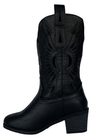 Sunflower Girl Western Boots (Black,Brown)