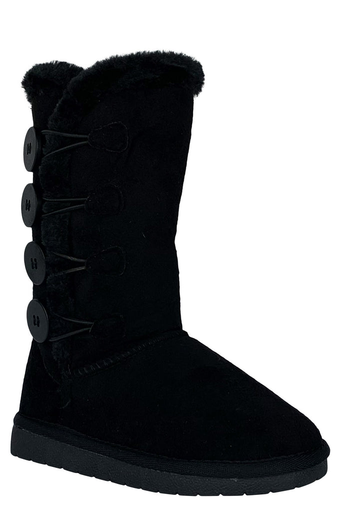 children winter boots in black anissa-3k forever link