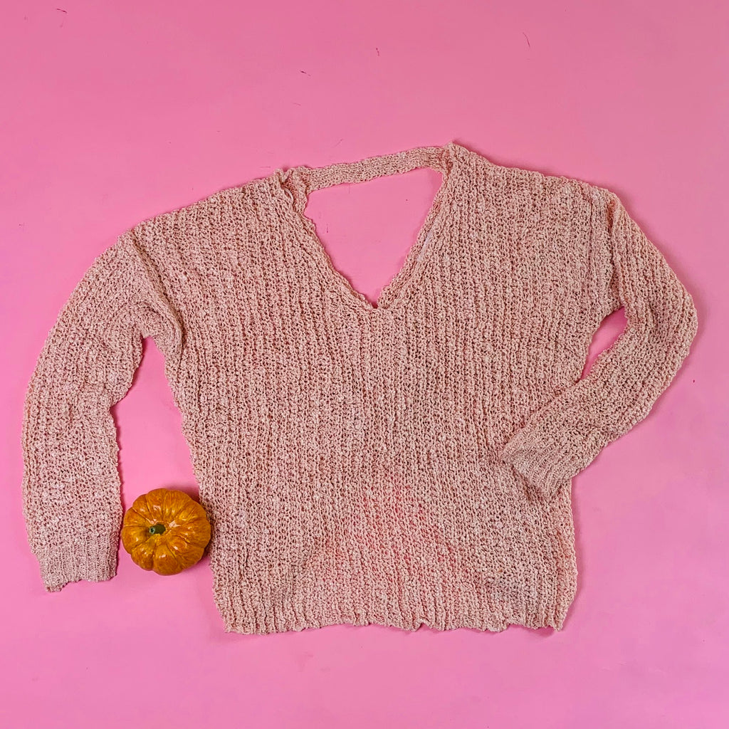 9414WE LoveTree knot back knit sweater