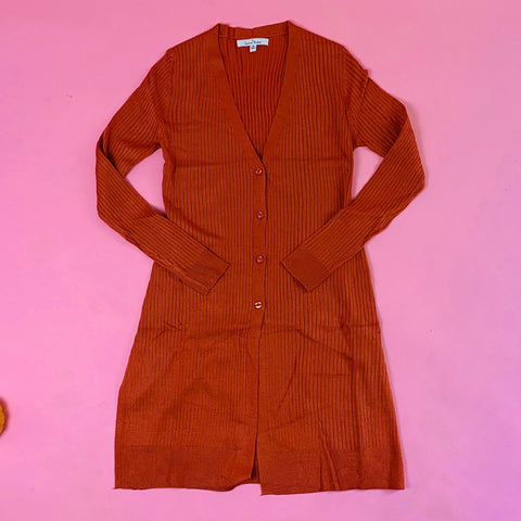 9487we lovetree rust long cardigan