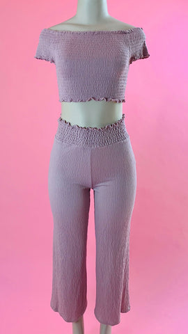 6374PK lovetree mauve high waist pants