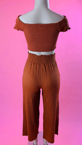 """Love handle"" High Waist Pants (Mauve,Rust)"