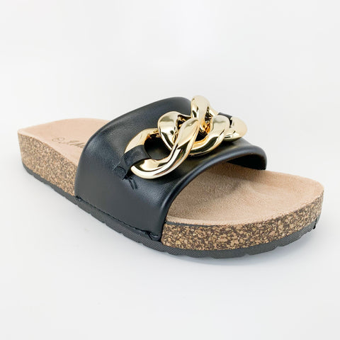 j.mark urban-34 black sandal with chain