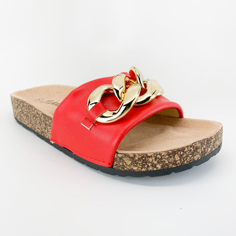 j.mark urban-34 red sandal with chain