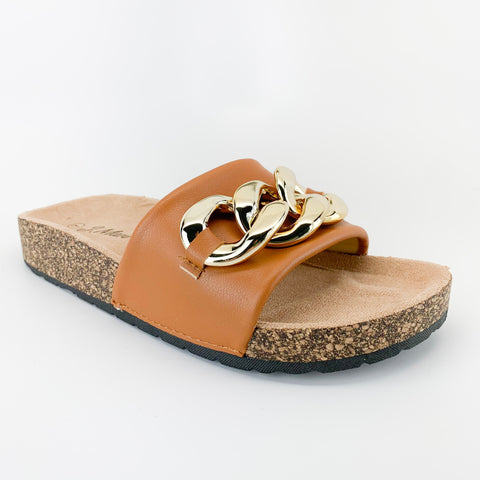 j.mark urban-34 tan sandal with chain