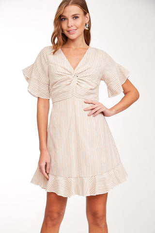 """Caroline"" Striped Dress with Back Bow"