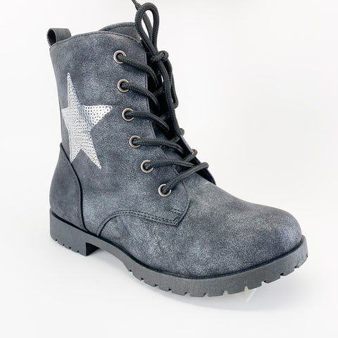 """Star"" Moto Girl Boots"