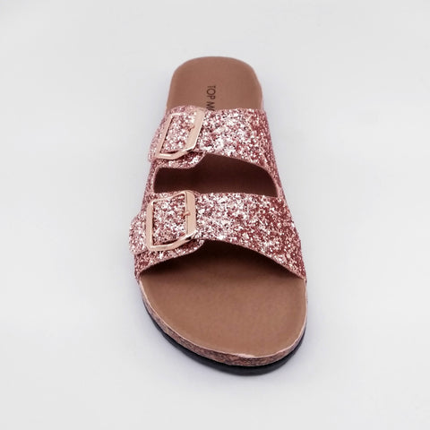Marisol Woman Slide Sandals (Rosegold)