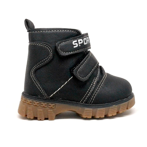 Toddler Boy Boots with Hook and Loop Straps