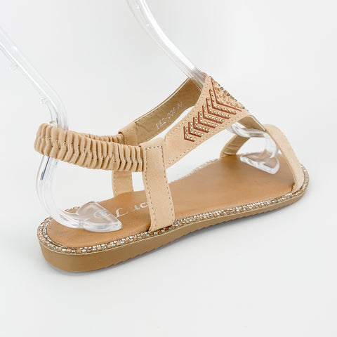 """Golden Sunflower"" Rhinestone Sandal"