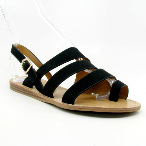 """Autumn"" Slide Sandal (Black)"