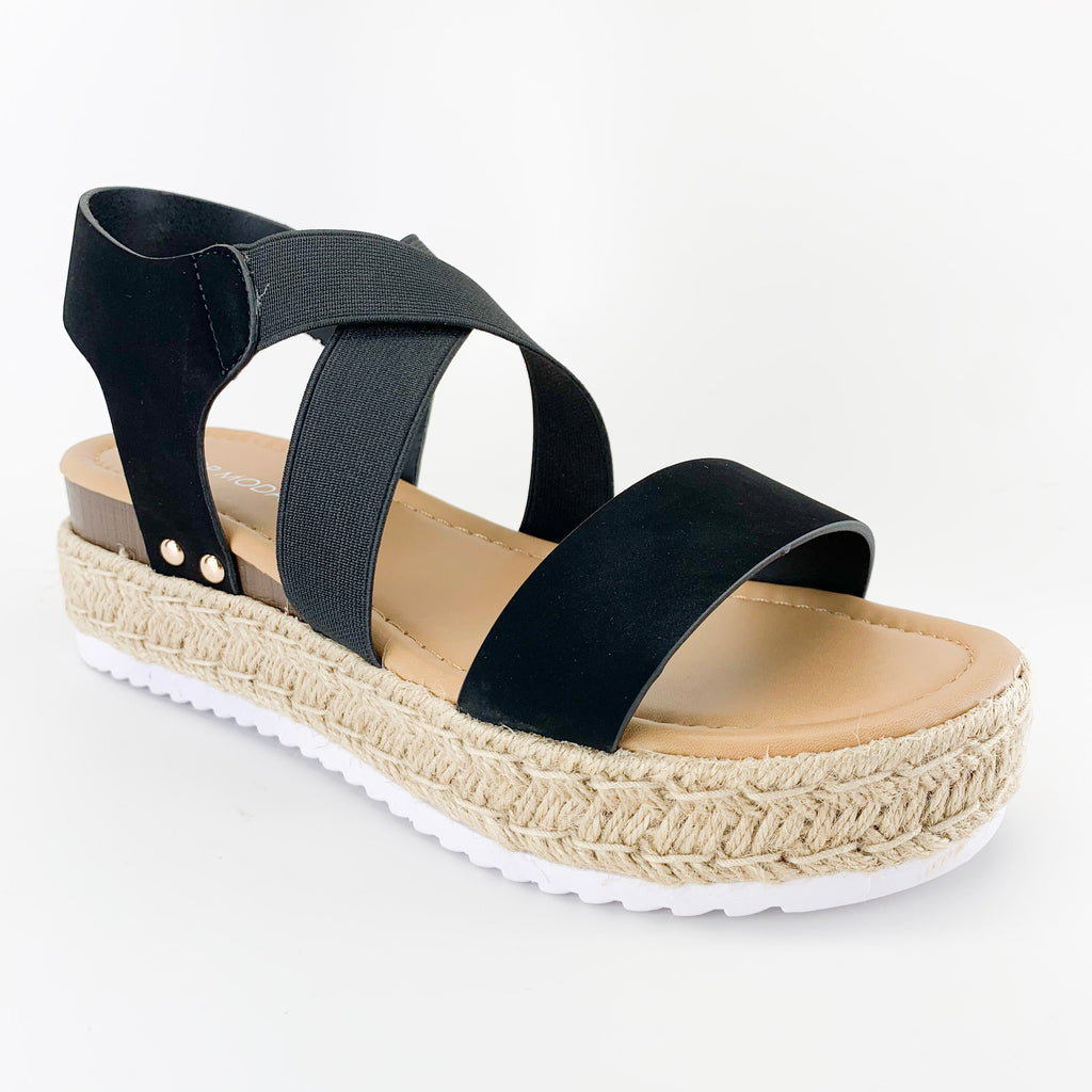 top moda candide-77 black wedge sandals