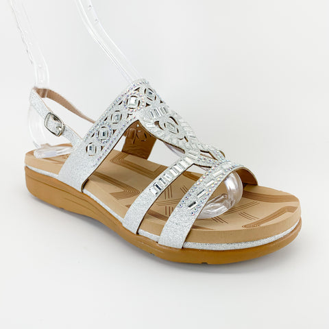 forever link tracy-11 silver comfort sandal