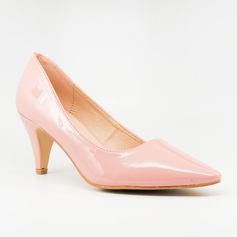 grande-22 forever link mauve pointed toe patent heel
