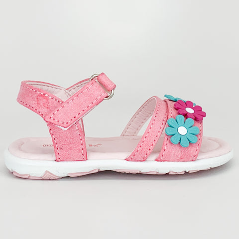"""Teal Flower"" Toddler Sandal"
