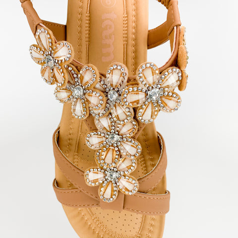 """Diamond Flower"" Sandal"