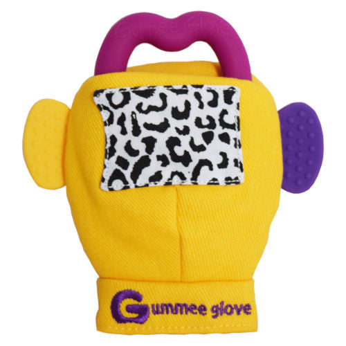Gummee Glove Teething Mitten - Yellow