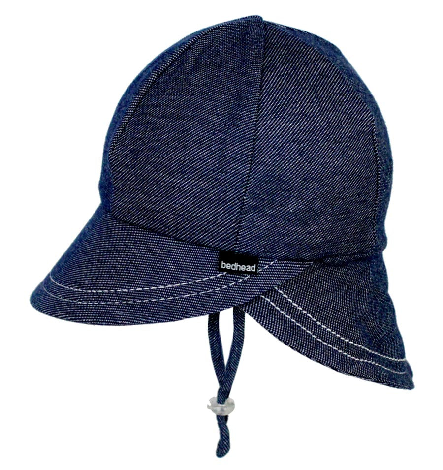 Bedhead Legionnaire Hat with Strap (6 mths - 2 yrs) - Denim