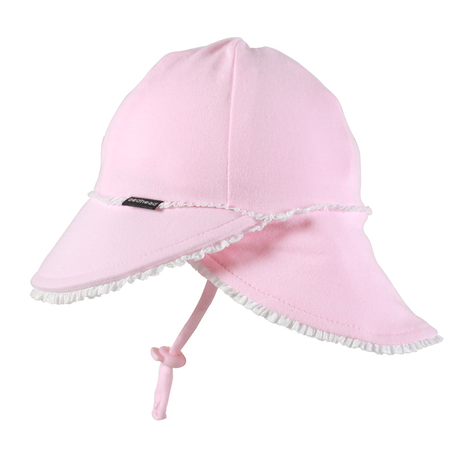Bedhead Girls Legionnaire Hat Ruffle Trim (3 -12 mths) - Blush