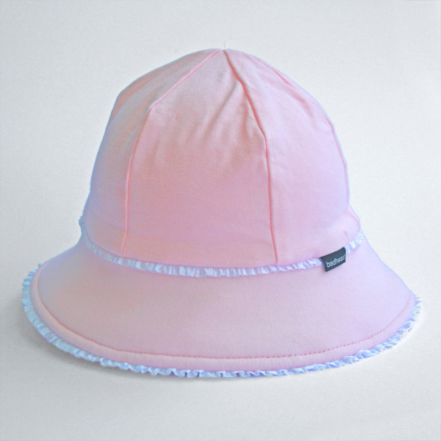 Bedhead Girls Baby Bucket Hat Ruffle Trim (6 mths -2 yrs) - Blush