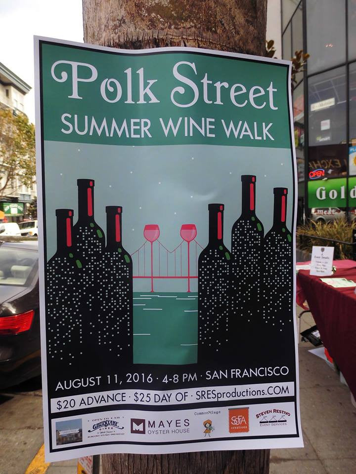 Polk Street Wine Walk 8.11.16
