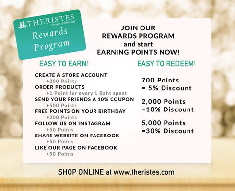 Theristes Rewards Program