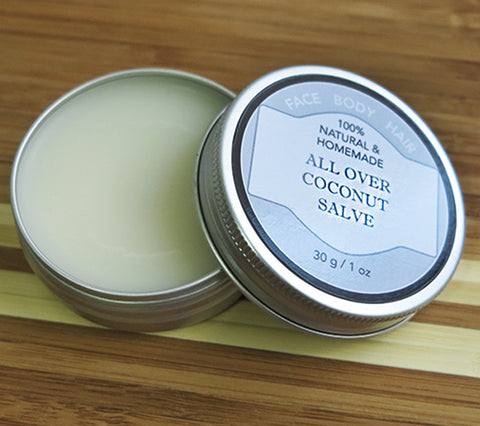 100% Natural and Homemade All Over Coconut Salve for Body, Face, Hair