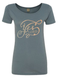 "Organic Scoopneck Christian Women's T-shirt ""Yes, Lord"""