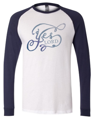"Men's Christian Baseball T-Shirt ""Yes, Lord"""