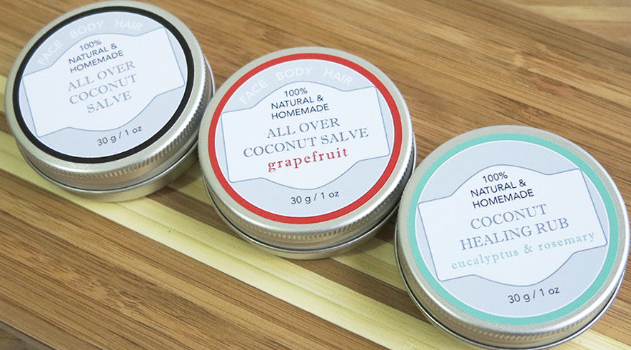Natural Coconut Oil Salves