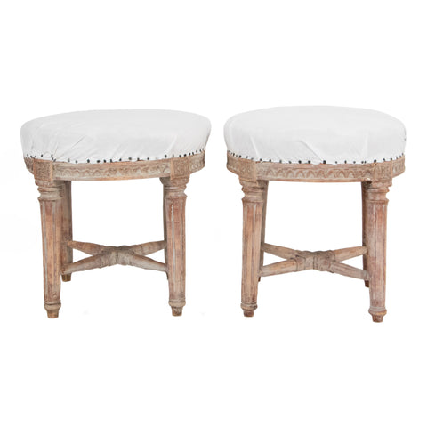 #903 Pair of Gustavian Stools