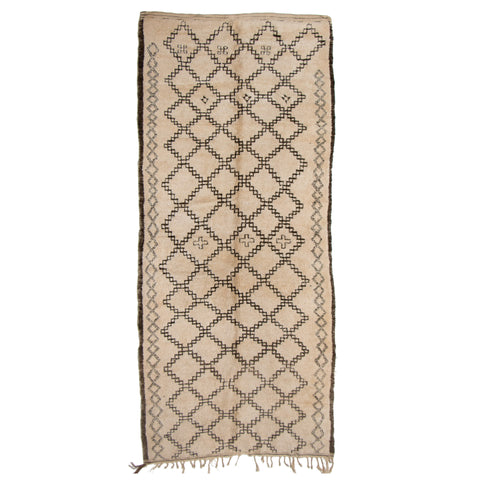 #1000 Vintage Hand Woven Rug by the Beni Ourain Tribe