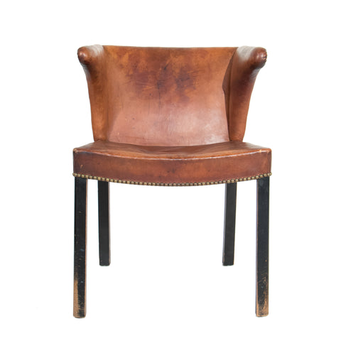 #1019 Leather Chair by Frits Henningsen