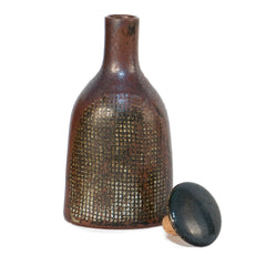 #1072 Stoneware Bottle by Stig Lindberg