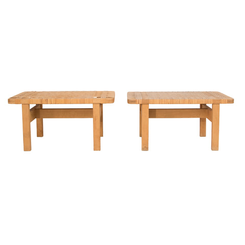 #1073 Pair of Stools by Borge Mogensen