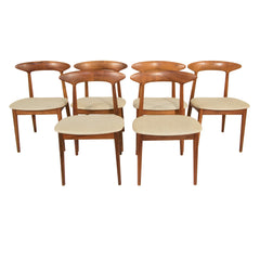 #1153 Set of 6 Chairs  in Walnut by Kurt Ostervig